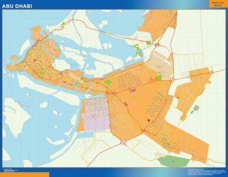 Abu Dhabi map in Emirates