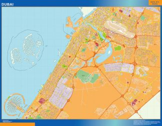 Dubai map in Emirates