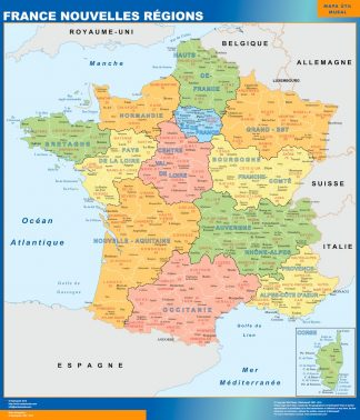 Map of France new regions